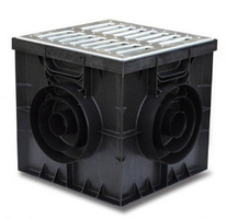 Дождеприёмник  AQUASTOK 300x300 (решетка-металлическая)
