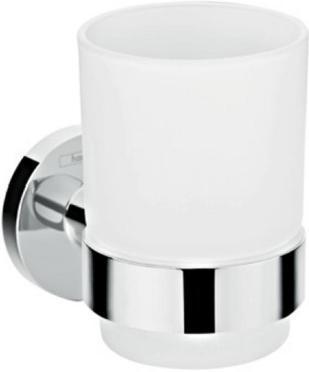 Аксессуар для ванной, стакан для зубных щеток HansGrohe Logis Universal HG41718000 серебристый