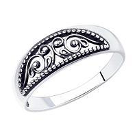 Кольцо SOKOLOV из черненного серебра, ажурное 95-110-01207-1 размеры - 17 17,5 18 18,5 19