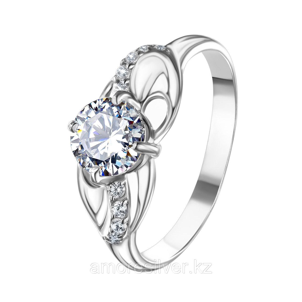 """Кольцо TEOSA серебро с родием,  символы   , """"каратник"""" 10120-0644-CZ размеры - 18"""