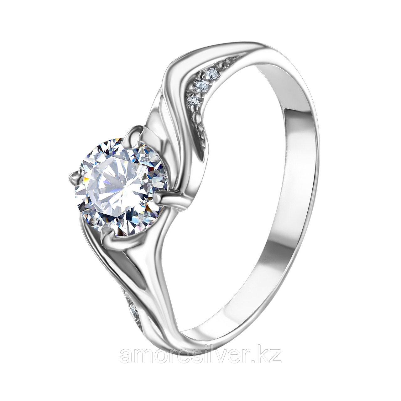 """Кольцо TEOSA серебро с родием,   недорогое без вставочек  , """"каратник"""" 10120-0647-CZ размеры - 17,5 18,5"""