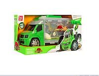 """Игровой набор для мальчика """"Гараж. Машинка с динозаврами"""""""