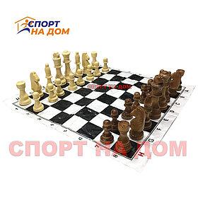 Шахматы деревянные (мягкая доска 40Х40 см)