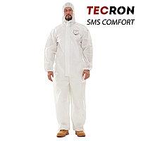 Одноразовые защитный комбинезоны TECRON SMS Comfort White (SMMS 55г., швы изолированы)