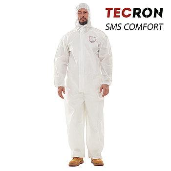 Одноразовые защитный комбинезоны TECRON™ SMS Comfort White (SMMS 55г., швы изолированы)