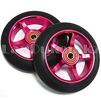 Колеса для трюкового самоката металлические диаметр 110 мм ABEC 7 красные