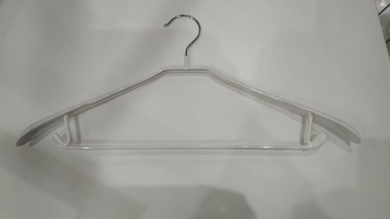 Плечики - Вешалка для одежды Виниловая Белого цвета