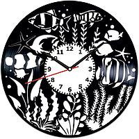 Настенные часы Аквариум, подарок аквариумисту, 1888