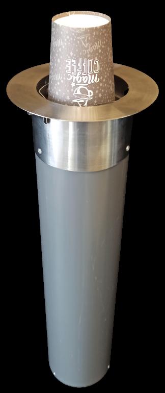 Диспенсер для стаканов с металлическим обрамлением, Ø 80-90 мм