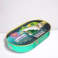 Скумбрия атлантическая филе натуральная с добавлением масла РОСКОН 175 гр.