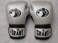 Боксерские перчатки Grant кожа (цвет серый) 12,14,16 OZ