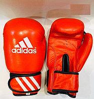Боксерские перчатки ADIDAS кожа (красный) 12, 14, 16 OZ