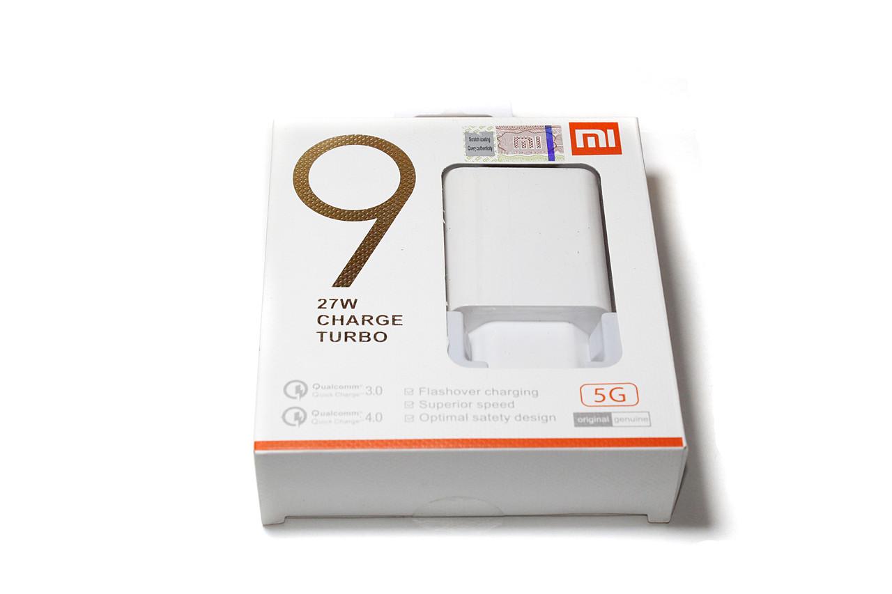 Сетевой адаптер Xiaomi Mi MDY-08-EH, USB-C 27W + кабель USB-C 1m, Original