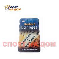 Мини Домино цветное в железной банке 6 цветов