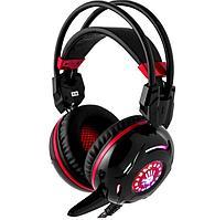 Игровая гарнитура A4tech Bloody G300 черно-красные