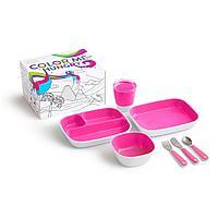 Набор посуды Splash 7 пр., розовый (Munchkin, США)