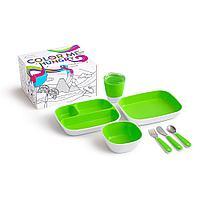 Набор посуды Splash 7 пр., зеленый (Munchkin, США)