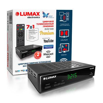 Цифровая TV-приставка LUMAX DV3215HD, DVB-T2 /DVB-C, HDMI, USB - Черный