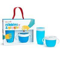 Подарочный набор Nibbles & Giggles голубой (Munchkin, США)