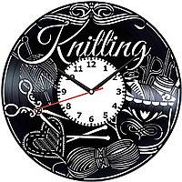Настенные часы Шитье Вязание, подарок вязальщице, швее, портной, портному, 1988