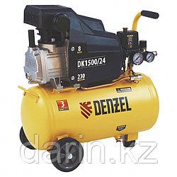 Компрессор воздушный DK1500/24, Х-PRO 1.5 кВт, 230 л/мин, 24 л Denzel