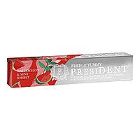 Зубная паста, PRESIDENT® White & Yummy, Арбузно-мятный сорбет, 75 гр