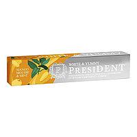 Зубная паста, PRESIDENT® White & Yummy, Манго-мусс с мятой, 75 гр
