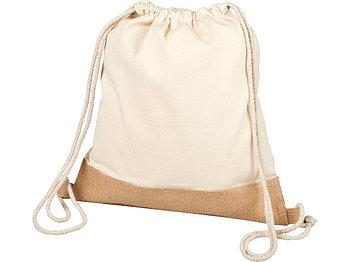 Рюкзак со шнурком из хлопкового джута Delhi, natural