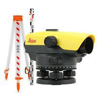 Комплект оптический нивелир Leica NA 332 штатив рейка - 3 в 1 с поверкой