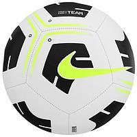 Мяч футбольный NIKE Park Ball, размер 4, 12 панелей, ТПУ, машинная сшивка, цвет белый/чёрный/жёлтый