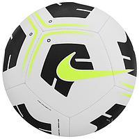 Мяч футбольный NIKE Park Ball, размер 5, 12 панелей, ТПУ, машинная сшивка, цвет белый/чёрный/жёлтый