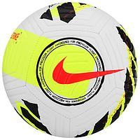 Мяч футбольный NIKE Strike, размер 5, 12 панели, ТПУ, машинная сшивка, цвет белый/жёлтый/чёрный
