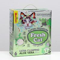 Наполнитель комкующийся Fresh cat с ароматом алоэ веры, 6 л
