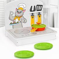 Кухня детская, мини, белая, 6 предметов, цвет белый