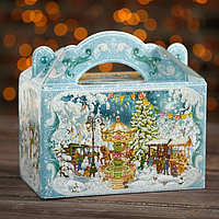 Подарочная коробка 'Новогодняя Ярмарка', с игрой, 20 x 12 x 19 см (комплект из 5 шт.)