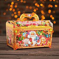 Подарочная коробка 'Сундук рубиновый' сборная, 25,3 х 15,6 х 15,5 см (комплект из 5 шт.)