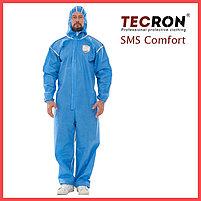 Одноразовые защитный комбинезоны TECRON™ SMS Comfort Blue (SMMS 55г., швы изолированы), фото 2