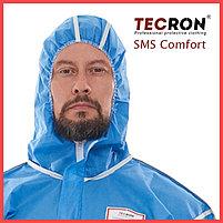 Одноразовые защитный комбинезоны TECRON™ SMS Comfort Blue (SMMS 55г., швы изолированы), фото 3