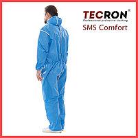 Одноразовые защитный комбинезоны TECRON™ SMS Comfort Blue (SMMS 55г., швы изолированы), фото 4