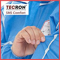 Одноразовые защитный комбинезоны TECRON™ SMS Comfort Blue (SMMS 55г., швы изолированы), фото 5
