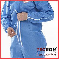 Одноразовые защитный комбинезоны TECRON™ SMS Comfort Blue (SMMS 55г., швы изолированы), фото 6