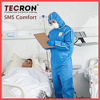Одноразовые защитный комбинезоны TECRON™ SMS Comfort Blue (SMMS 55г., швы изолированы), фото 8
