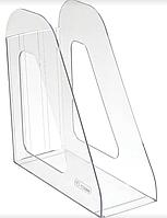 Лоток пластиковый вертикальный А4 Стамм Респект прозрачный