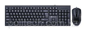 Клавиатура + мышь Oklick 640M клав:черный мышь:черный USB