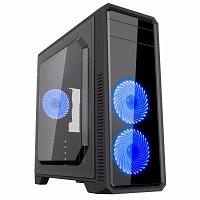 Компьютерный корпус PCCooler Game 6 (MM200), Без БП, USB3.0x1/USB2.0x2, Black, ATX Midi