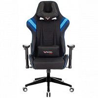 Кресло игровое Zombie VIKING 4 AERO черный/синий искусст.кожа/ткань с подголов. крестовина пласт.