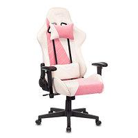 Кресло игровое Zombie VIKING X Fabric белый/розовый с подголов. крестовина пласт.