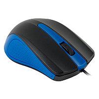 Мышь Oklick 225M черный/синий оптическая (1200dpi) USB (3but)