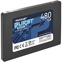 """Твердотельный накопитель SSD 480 Gb SATA 6Gb/s Patriot Burst Elite PBE480GS25SSDR 2.5"""" 3D QLC"""