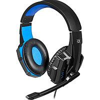 Гарнитура Defender Warhead G-390 LED, 20Hz-20kHz, 32 Om, 105dB, mic 100Hz-16kHz, 1.8 m, Black-Blue